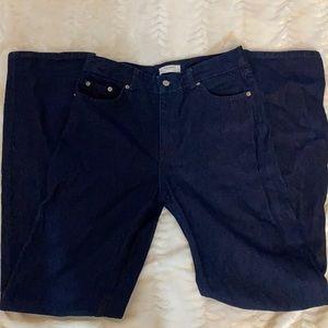 """Zara Woman Dark Wash 4 Pocket Jeans 26x43"""" XC"""